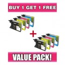 Brother LC73 Value Pack (BK, C, M, Y) - BUY 1 GET 1 FREE